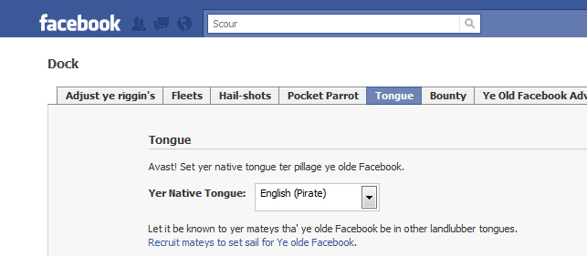 Pirate English Facebook